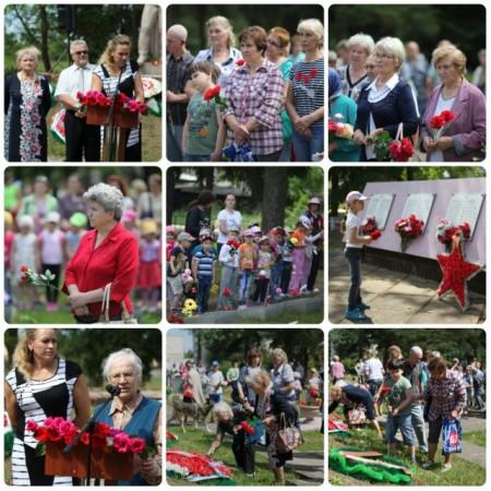 Церемония возложения цветов и венков на братские могилы